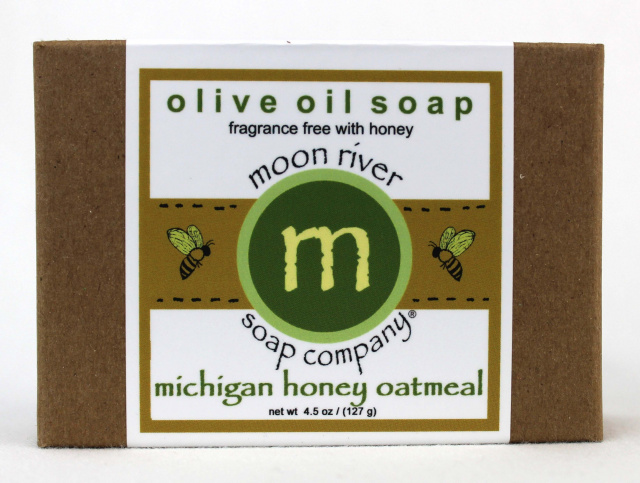 Michigan Honey Oatmeal (fragrance free) May Soap of the Month